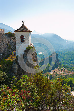 Castle in Guadalest village, Alicante, Spain