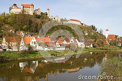 Castle Harburg in Franconia, Germany