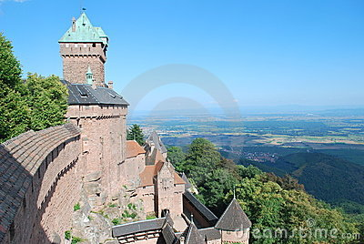 The castle of Haut-Koenigsbourg in France.