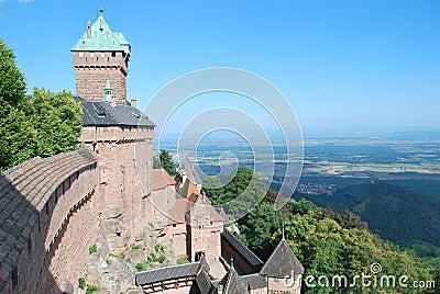 The castle of Haut-Koenigsbourg in France.
