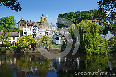 Castle on hill in Knaresborough, Yorkshire, UK