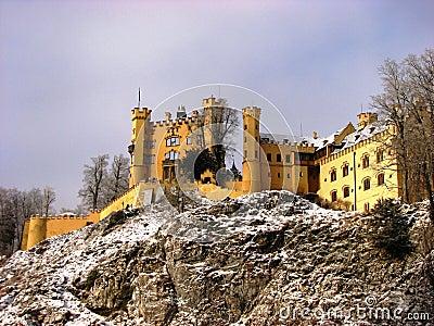 Castle Hohenschwangau on a hill