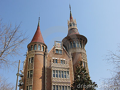 Castle house in Barcelona