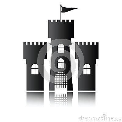 Castle icon isolated,