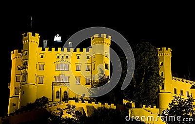 Castle illuminated at night