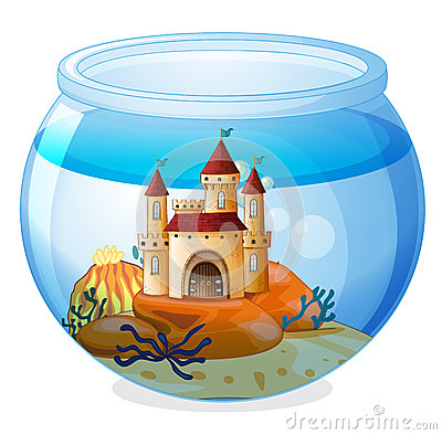 A castle inside a fishbowl