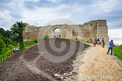 At the castle in Kazimierz Dolny, Poland Editorial Image