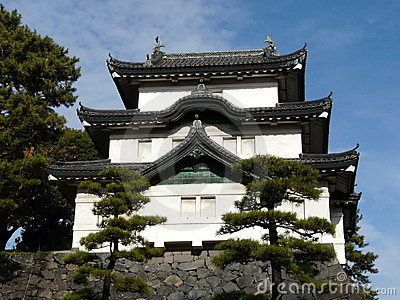Castle keep at Imperial Palace in Tokyo Japan