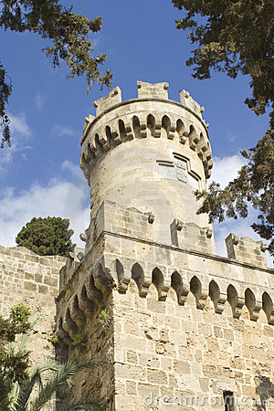 Castle of the Knights at Rhodes Greece