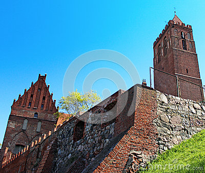 Castle in Kwidzyn. Poland