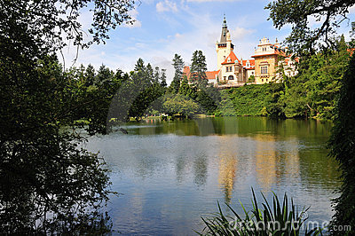 Castle with lake