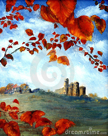 Castle and Leaves