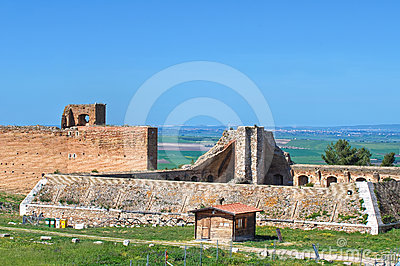 Castle of Lucera. Puglia. Italy.