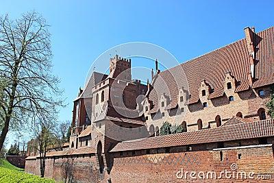 Castle in Malbork / Marienburg. Poland
