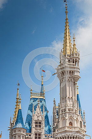 Castle minaret Editorial Stock Image