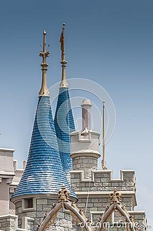Castle minaret Editorial Stock Photo