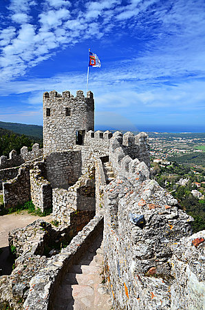 Castle Of The Moors, Sintra, Portugal Landmark Stock Photography - Image: 24274082
