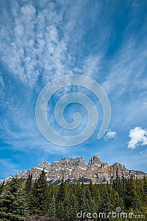 Free Castle Mountain Stock Image - 24801401