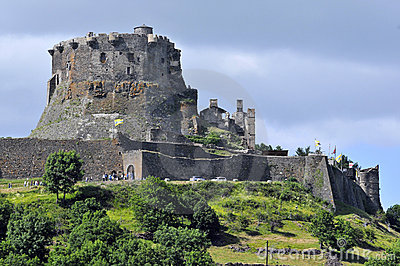 Castle of Murol in central France
