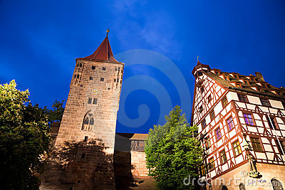 Castle in Nuremberg (Nürnberg), Germany.