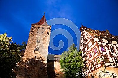 Castle in Nuremberg (Nürnberg), Germany.