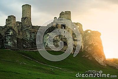 Castle in Ogrodzieniec, Poland