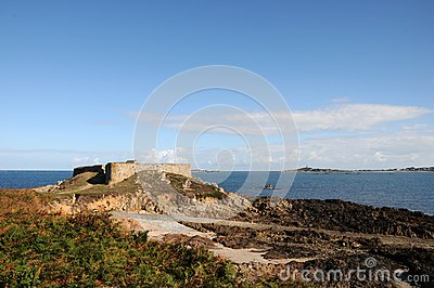 Castle at Portelet harbour, Guernsey