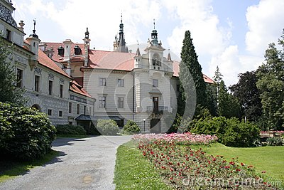 The castle Pruhonice