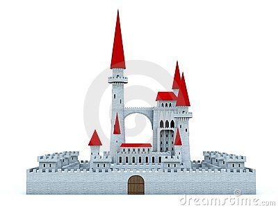 Castle with red roof