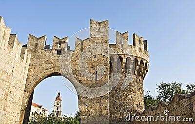 Castle of Rhodes in Greece