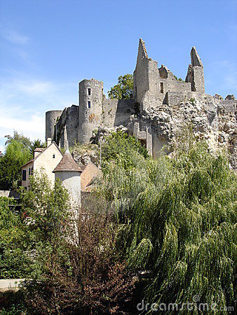 Castle ruins in France