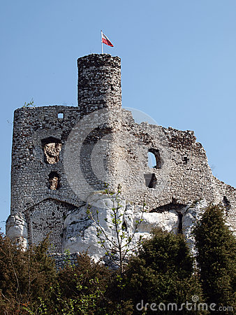 Castle ruins in Mirow