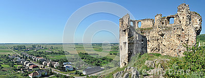 Castle ruins panorama