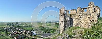 Castle ruins panorama