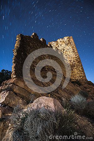 Free Castle Ruins With Startail Sky. Royalty Free Stock Photography - 88932997