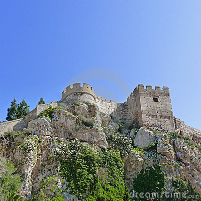 Castle in Salobrena Andalusia Spain