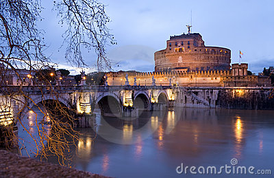 Castle of Sant Angelo at night