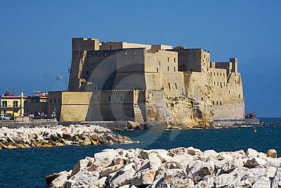 Castle on the sea in Naples