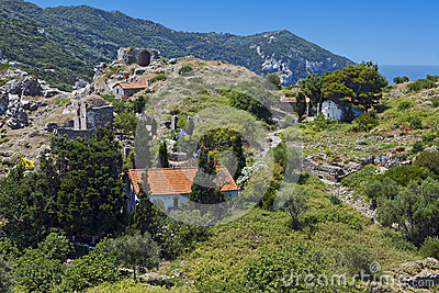 Castle of Skiathos island in Greece