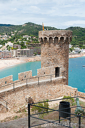 Castle in Spanish Tossa de Mar