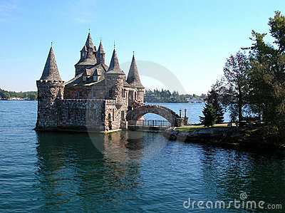 Castle on St. Lawrence river, Canada