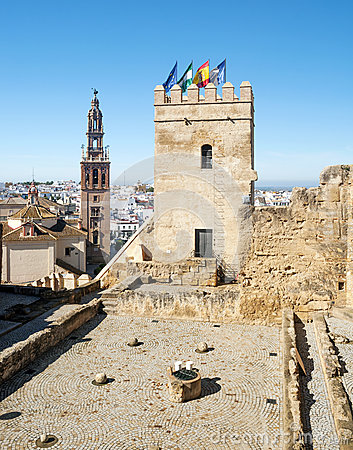 Castle tower of  Carmona