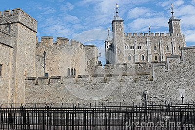 Castle Tower of London Stock Photo