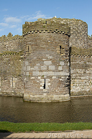 Castle tower and moat.