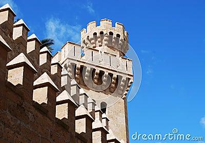 Castle tower in Palma de Majorca