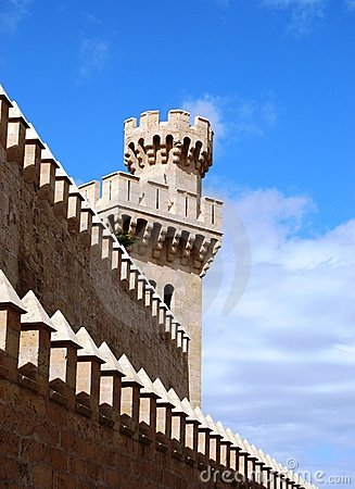 Castle tower in Palma de Mallorca