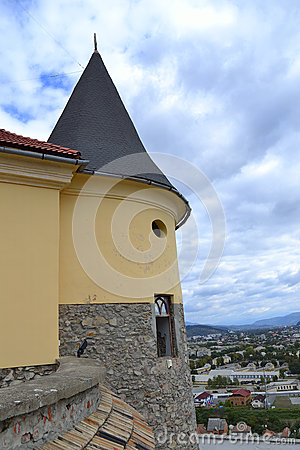 Castle tower with spire
