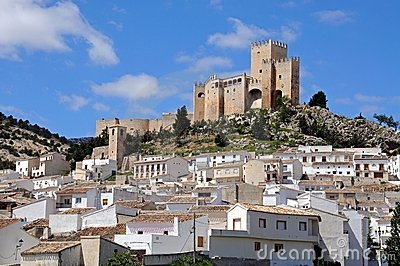 Castle and town Velez Blanco