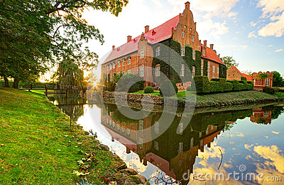 Castle Trolle-Ljungby at sunset