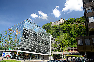 Castle Vaduz - view from center Editorial Stock Image